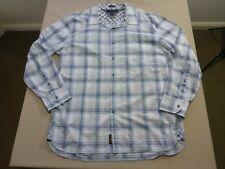 067 MENS NWOT TOMMY HILFIGER WHITE / GREY / BLUE CHECK L/S SHIRT XL $140 RRP.