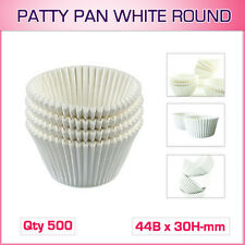 Patty Pan White Round AP408 Qty 500 ( 44B x 30H-mm ) Muffin Cases