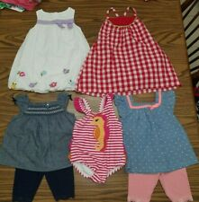 LOT OF BABY GIRLS GYMBOREE SUMMER OUTFITS SIZE 12-18 MONTHS-EUC