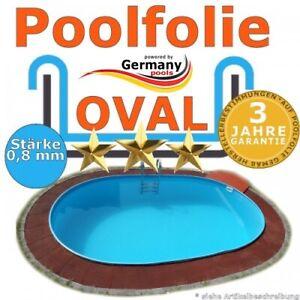 700 x 350 x 120 cm x 0,8 Poolfolie bis 150 cm