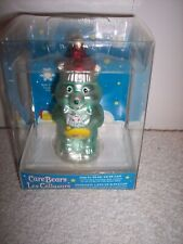 "Care Bear Glass Ornament Green Wish Yellow Rainbow Stars 4"" Tall 2005~NEW"