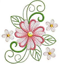 20 WATER SLIDE NAIL ART DECALS TRANSFERS PINK & WHITE FLOWERS / GREEN DESIGN<met