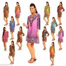 Kaftan Casual Dresses for Women with Smocked
