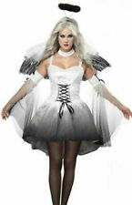 Womens Costumes For Halloween Party Ladies Sexy Fallen Aangel Dress Up Wing Halo