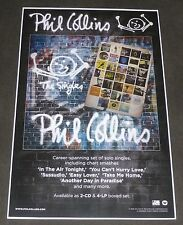 PHIL COLLINS THE SINGLES 11x17 inch ORIGINAL PROMO POSTER GENESIS
