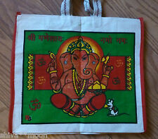 HIPPY HINDU GOD SHOPPING TOTE BAG ECO FRIENDLY FAIRTRADE CARRIER GANESH 1802g