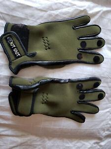 Hot Shot Cold Weather Fishing Gloves  Green  Sz. Medium