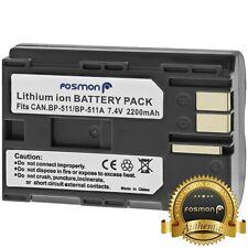 Fosmon 2200 mAh Replacement High Capacity Battery Pack for Canon BP-511 BP-512
