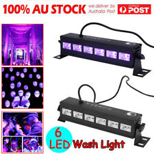 6LED 6 x 3W UV Black Light Bar Super Bright Stage Light DJ Party Club Home Decor