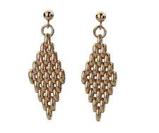 Pendientes de joyería de metales preciosos sin piedras mariposa de oro rosa