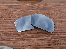 Inew Silver Titanium polarized Replacement Lenses for Oakley Wiretap