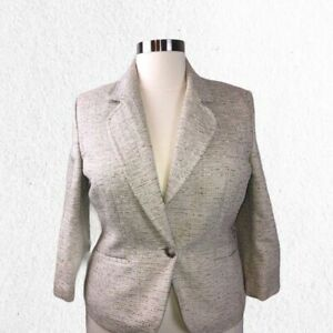 Ann Taylor   Sz 16 Plus Size Tweed Blazer