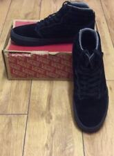 ladies worn once black real suede vans lace up  boots size 8