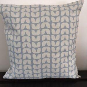 "Blue/Grey 'Scandi' Design 16"" x 16"" Cushion Cover"