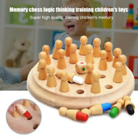 Wooden Memory Match Stick Chess Game Children Kids Puzzle Educational Toy #US