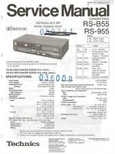 TECHNICS RS-B55 RS B 55 - SERVICE MANUAL IN COLOR VERSION + SUPPLEMENT - REPAIR