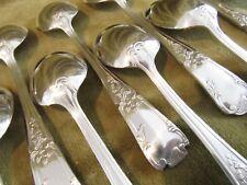 12 cuillères à café métal argenté rocaille  (coffee spoons)  JN platil