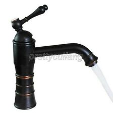 Black Oil Rubbed Brass Single Handle Bathroom Basin Sink Faucet Mixer Tap Pnf278