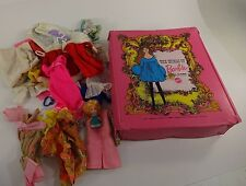 World of Barbie Pink Doll Collectors Case 1968 # 1002 + clothing lot / extras