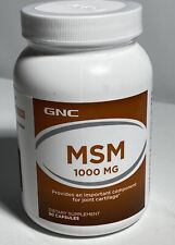 GNC MSM 1000 mg Supports Healthy Joint Cartilage | 90 Capsules | Gluten-free