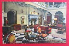 Living Room John Ringling Mansion Sarasota FL Unposted Curteich Linen Postcard