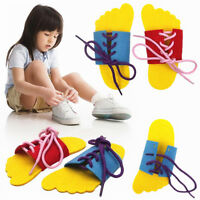 2pcs Learn To Lace Tie Shoes Practice Lacing Learning Shoe Children's Shoelace