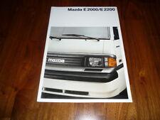 Mazda E2000 / E2200 Prospekt 07/1989