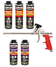 Pistolenschaum 3 x 500 ml + 1 Metall Schaumpistole +2 PU Reiniger Montageschaum