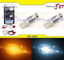 LED Switchback Light C2 White Amber 7443 Two Bulb Resistor Front Turn Signal Fit