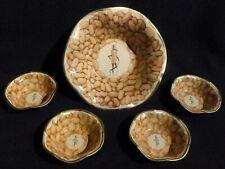 Vintage Planters Peanuts Tin Snack Bowl Set