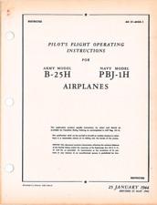 WWII North American B-25 H PBJ-1 Mitchell Pilot Handbook Aircraft Manual CD COPY