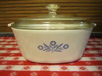 Vintage Corning Ware Blue Cornflower Casserole ~2.5 Qt~ P 2 1/2 B, Lid Pyrex A9C