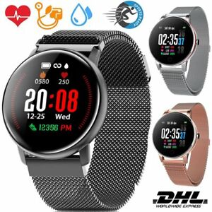 NEU Fitness Armband Uhr Smartwatch mit Pulsmesser Wasserdicht  für Damen Herren