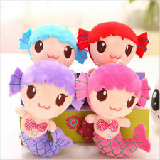 Cute Plush Sea-maid Mermaid Princess Stuffed Crystal Toys Baby Girls Dolls AB