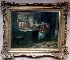 John Falconar Slater(1857-1937) Oil Painting On Board Signed gilt frame