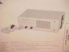 1961 1962 REALISTIC RADIO SHACK CB RADIO SERVICE MANUAL MODEL TRC-27 (94L595)