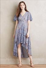 NEW Anthropologie Moulinette Soeurs Lavender Genevieve Asymmetrical Lace Dress 4