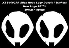 S1000rr Alien Head Logo Decals / Stickers BMW Hp4 (2 Stickers) Logo 2015