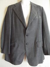 MENS 42R ONEIL'S COURT SHOP BLUE TWEED WOOL JACKET blazer 42 regular