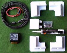 MOTORHOME CARAVAN CAMPER SOLAR PANEL FULL FITTING KIT 10a PWM Regulator no panel