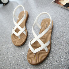 Women's Summer Gladiator Sandals Shoes Thong Slippers Flops Flip Flat Strappy