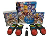 PS3 Buzz Quiz TV PlayStation 3 Full Set with 4 Buzzers, Dongle, Game and Manual
