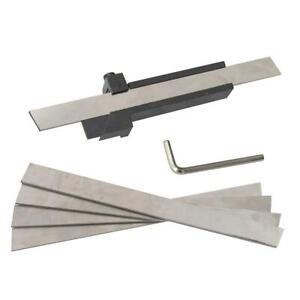 Lathe Cutting Tool Blade Clamp With 5 Blades [Blade Size:3x16mm]