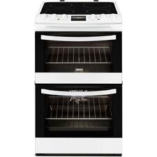Zanussi ZCV48300WA 55cm Freestanding Electric Double Oven White Cooker