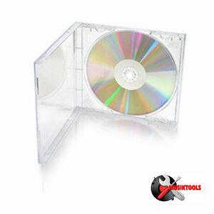 10 CAJAS JEWEL PARA CD - Bandeja Transparente - NUEVAS