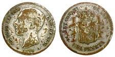 ALFONSO XII. 1 PESETA. 1876. FALSA DE EPOCA.