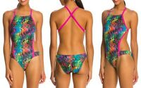 Speedo Swimsuit Eye Spy Printed Vee 2 Women's One-Piece Speedo Endurance Lite 26