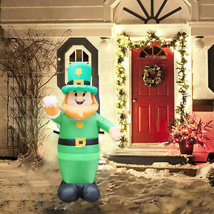 39.4 FT high St. Patrick's Day AirBlown inflatable luminous courtyard decoration