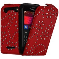 Housse Coque Etui de Protection Diamant Rouge pour Blackberry Curve 9360