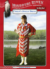 Child's Native American Indian Jingle Dress S-XL Missouri River Sewing Pattern
